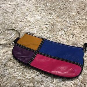 Handbags - Retro Color Block Wrislet💕💙💛